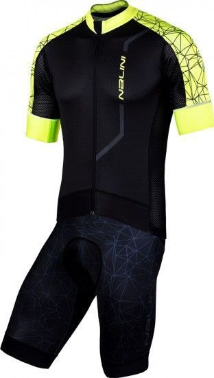 Nalini Cycling Set (Jersey Velocita 2.0 + Bibshort Leader 2.0) Yellow (E19)