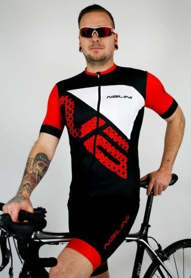 Nalini Cycling Set (Jersey Vittoria 2.0 + Bibshort Gregario 2.0) Red (E19)