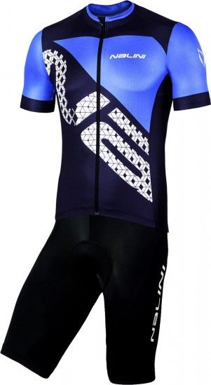 Nalini Cycling Set (Jersey Vittoria 2.0 + Bibshort Squadra) Blue/Black (E19)