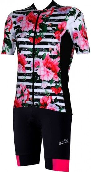 Nalini Womens Cycling Set (Mtb Jersey Moderna 2.0 + Cycling Shorts Ambiziosa 2.0) Pink (E19)