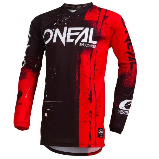O'Neal Element Shred Long Sleeve Cycling Jersey Mtb/Freeride Black/Red
