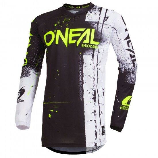 O'Neal Element Shred Long Sleeve Cycling Jersey Mtb/Freeride Black/White