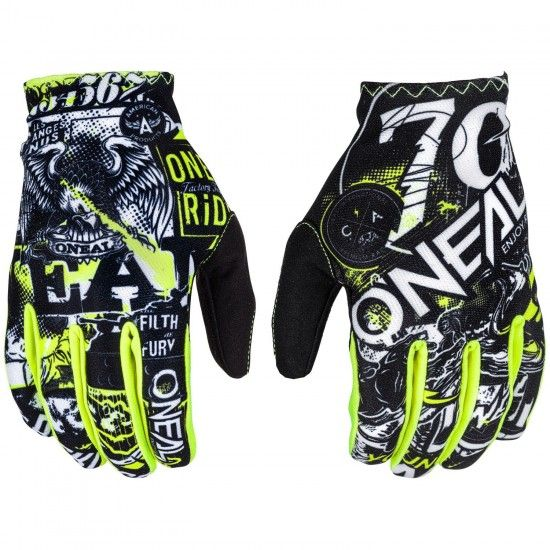 O'Neal Matrix Attack Mtb Gloves Long Fingers Black/Neon Yellow
