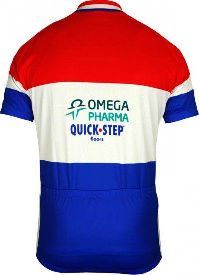 Vermarc Omega Pharma-Quickstep Dutch Champ 2012/13 Professional Cycling Team - Cycling Jersey With Long Zip