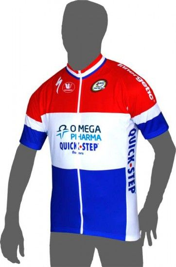 Vermarc Omega Pharma-Quickstep Dutch Champ 2013 Professional Cycling Team - Cycling Jersey With Long Zip