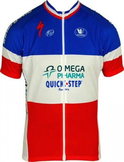 Vermarc Omega Pharma-Quickstep French Time Trail Champ 2012/13 Professional Cycling Team - Cycling Jersey With Long Zip