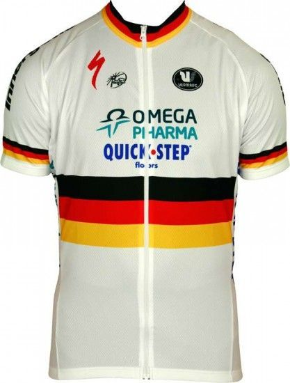 Vermarc Omega Pharma-Quickstep German Time Trail Champ 2012/13 Professional Cycling Team - Cycling Jersey With Long Zip