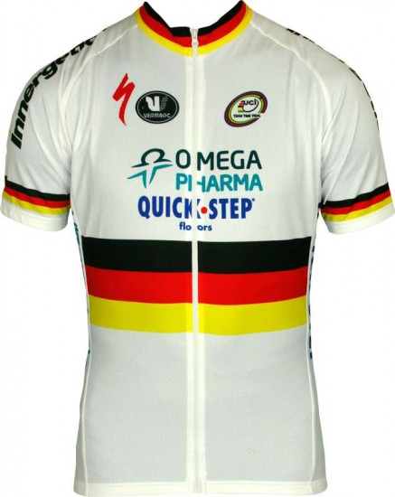Vermarc Omega Pharma-Quickstep German Time Trail Champ 2013 Professional Cycling Team - Cycling Jersey With Long Zip