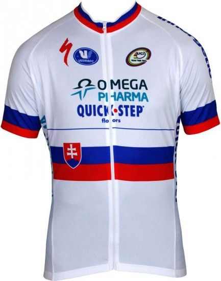 Vermarc Omega Pharma-Quickstep Slovakian Champion 2013 Professional Cycling Team - Cycling Jersey With Long Zip