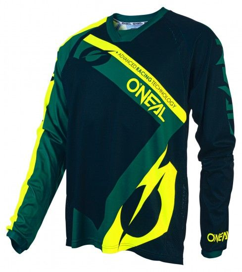 O'Neal Element Fr Hybrid Long Sleeve Cycling Jersey Mtb/Freeride Green