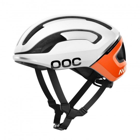 Poc Omne Air Spin Cycling Helmet White/Orange (Zink Orange)