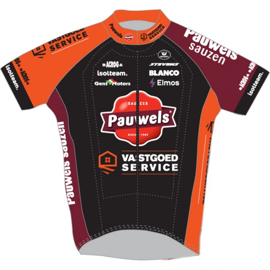 Vermarc Pauwels Sauzen - Vastgoedservice 2019 Short Sleeve Cycling Jersey (Long Zip) - Professional Cycling Team