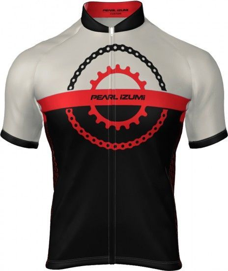 Pearl Izumi Select Escape Ltd Short Sleeve Cycling Jersey Chain Ring Black/Torch Red
