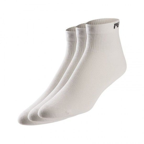 Pearl Izumi Triple Pack Attack Cycling Socks White