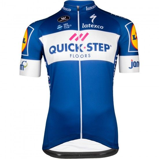 Vermarc Quick-Step Floors 2018 Aero Short Sleeve Cycling Jersey (Long Zip) - Professional Cycling Team