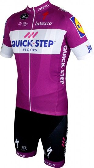 Vermarc Quick-Step Floors 2018 Giro Special Edition Short Sleeve Cycling Jersey Purple (Long Zip) - Professional Cycling Team