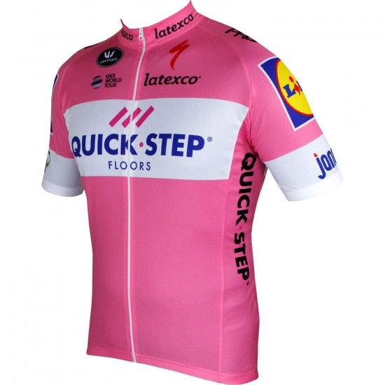 Vermarc Quick-Step Floors 2018 Giro Special Edition Short Sleeve Cycling Jersey Rosa (Long Zip) - Professional Cycling Team