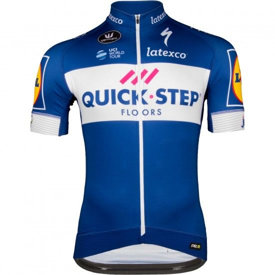 Vermarc Quick-Step Floors 2018 Racing Short Sleeve Jersey (Prr, Long Zip) - Professional Cycling Team