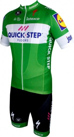 Vermarc Quick-Step Floors 2018 Tour Special Edition Set Green (Jersey Long Zip + Bib Short) - Professional Cycling Team