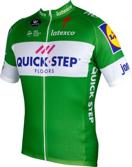 Vermarc Quick-Step Floors 2018 Tour Special Edition Short Sleeve Cycling Jersey Green (Long Zip) - Professional Cycling Team