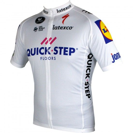 Vermarc Quick-Step Floors 2018 Tour Special Edition Short Sleeve Cycling Jersey White (Long Zip) - Professional Cycling Team