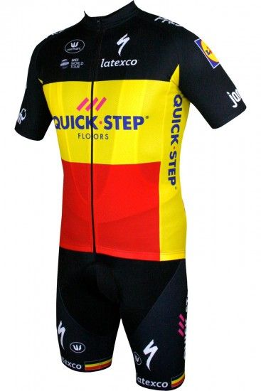 Vermarc Quick-Step Floors Belgian Champ 2018/19 Bib Shorts - Professional Cycling Team