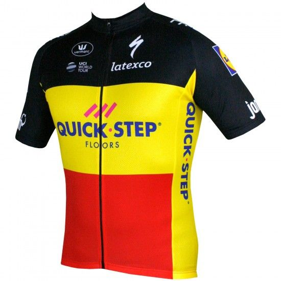 Vermarc Quick-Step Floors Belgian Champ 2018/19 Short Sleeve Jersey - Professional Cycling Team