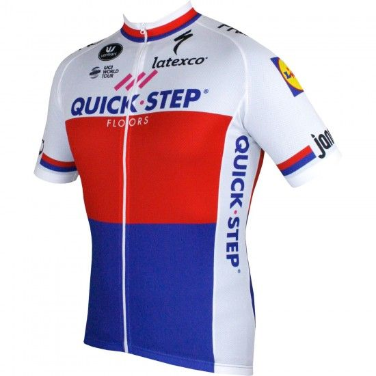 Vermarc Quick-Step Floors Czech Road Champ 2018 Short Sleeve Jersey - Professional Cycling Team