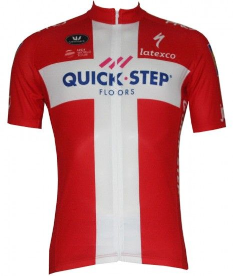 Vermarc Quick-Step Floors Danish Champ 2018/19 Short Sleeve Jersey - Professional Cycling Team
