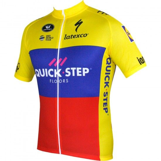 Vermarc Quick-Step Floors Ecuador Champ 2018 Short Sleeve Jersey - Professional Cycling Team