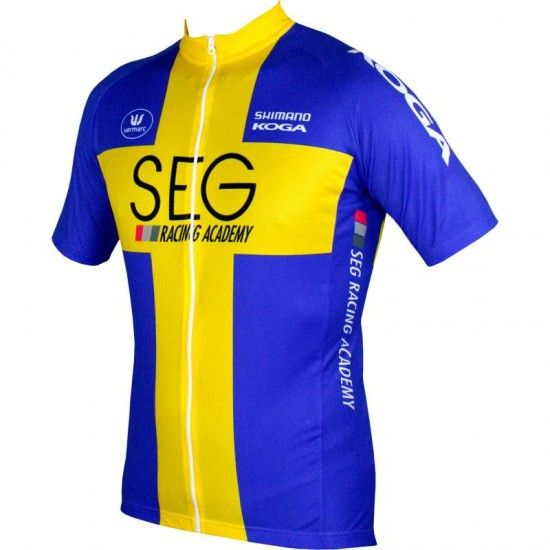 Vermarc Seg Racing Academy 2017 Champion Of Sweden Short Sleeve Jersey (Long Zip) - Professional Cycling Team
