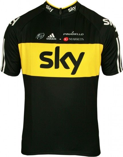 Adidas Sky Tour Champion Jersey Pro Cycling Cycling Jersey With Short Zip - Professional Cycling Team