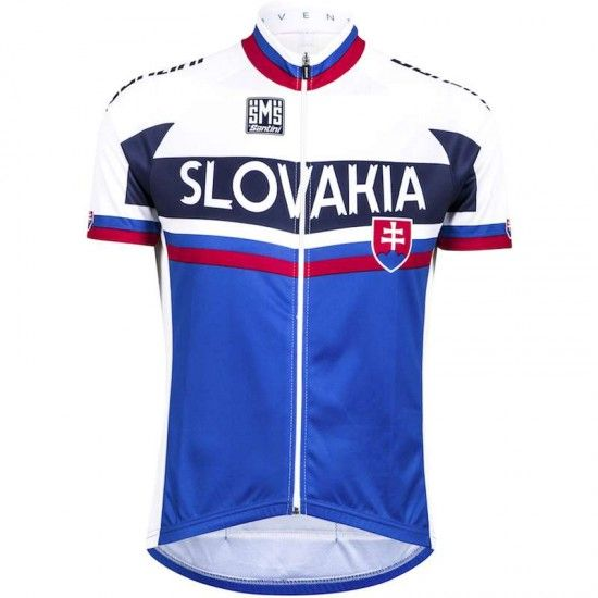 Santini Slovakia 2018 Short Sleeve Jersey (Long Zip) - National Cycling Team