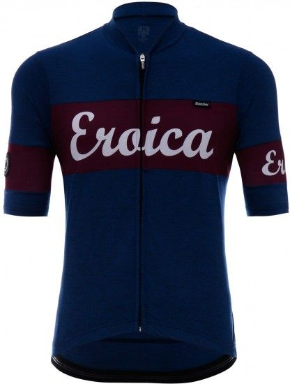Santini Eroica Cielo Short Sleeve Cycling Jersey Blue/Red