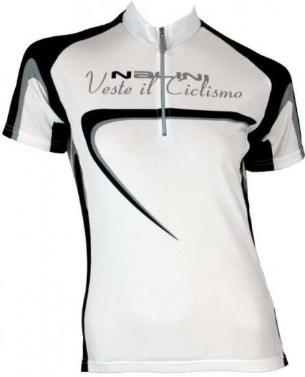 Nalini Sassolite White - Base Tricot / Jersey For Ladies With Short Sleeves