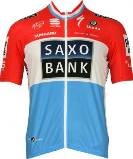Sportful Saxo Bank 2010 - Luxembourgian Champion Professional Cycling Team - Tricot (Jersey Short Sleeve)
