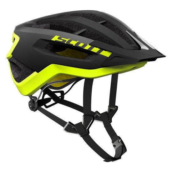 Scott Fuga Plus Rev Cycling Helmet Black/Yellow Rc (265531)