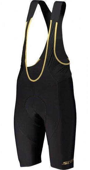 Scott Rc Premium Cycling Set (Short Sleeve Jersey Long Zip + Bib Shorts) Black/Ochre Yellow