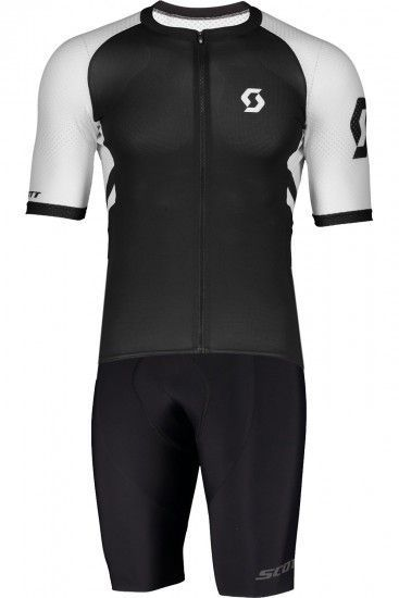 Scott Rc Premium Cycling Set (Short Sleeve Jersey Long Zip + Bib Shorts) Black/White