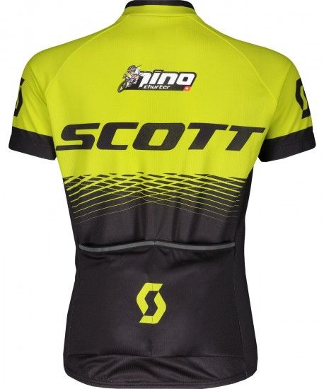 Scott Rc Pro Jr Kids Short Sleeve Cycling Jersey Black/Sulphur Yellow (270573)