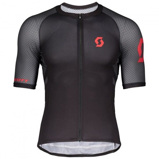 Scott Rc Premium Climber Short Sleeve Cycling Jersey Black/Fiery Red (270443)