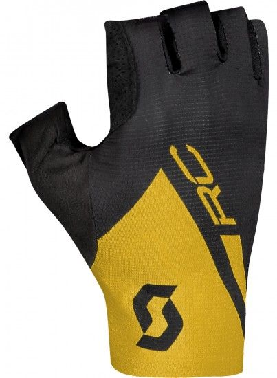 Scott Rc Premium Itd Short Finger Cycling Gloves Black/Ochre Yellow (270119)