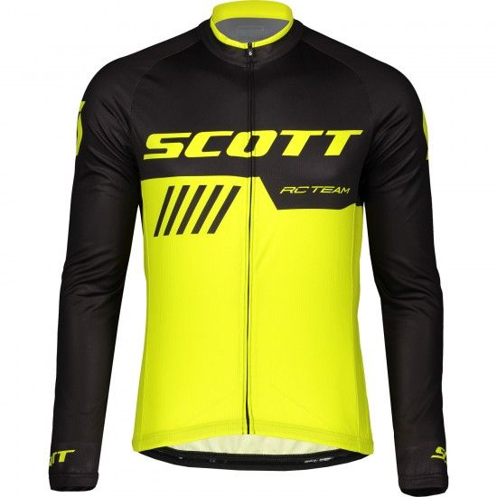 Scott Rc Team 10 Long Sleeve Cycling Jersey Black/Yellow Fluo (270455)