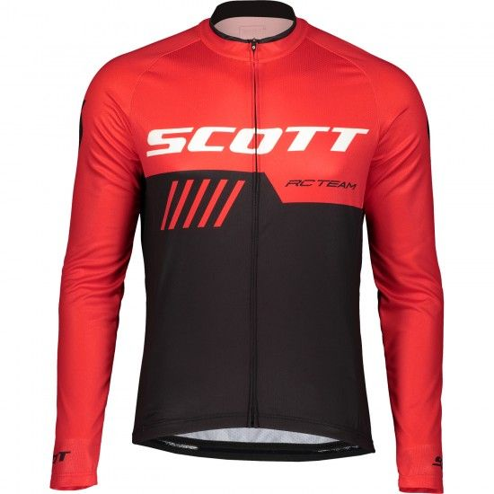 Scott Rc Team 10 Long Sleeve Cycling Jersey Red/Black (270455)