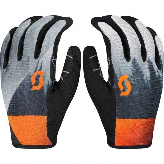 Scott Traction Long Finger Cycling Gloves Dark Grey/Exotic Orange (270125)