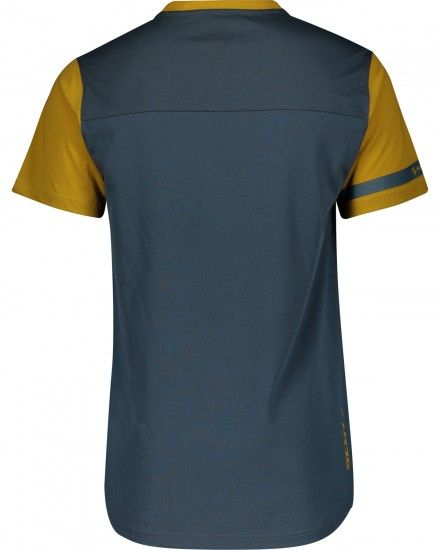 Scott Trail Flow Dri Short Sleeve Cycling Jersey Nightfall Blue/Ochre Yellow (270475)
