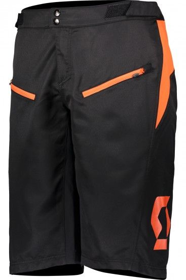 Scott Trail Vertic Bike Shorts With Liner Black/Exotic Orange (270483)