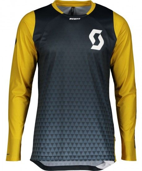 Scott Trail Vertic Long Sleeve Cycling Jersey Nightfall Blue/Ochre Yellow (269475)