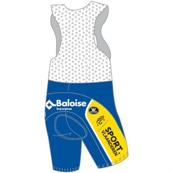 Vermarc Sport Vlaanderen - Baloise 2019 Cycling Bib Shorts - Professional Cycling Team