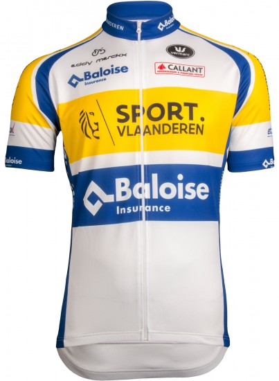 Vermarc Sport Vlaanderen - Baloise 2019 Short Sleeve Cycling Jersey (Long Zip) - Professional Cycling Team